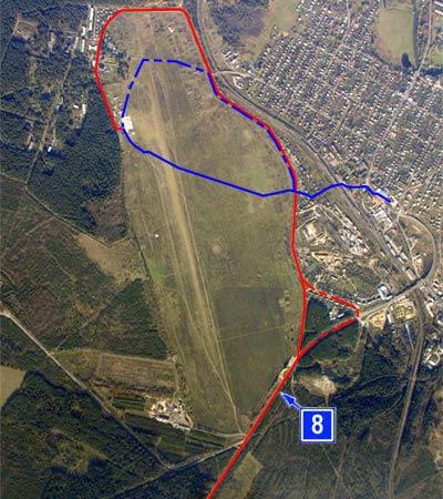 Схема аэродрома