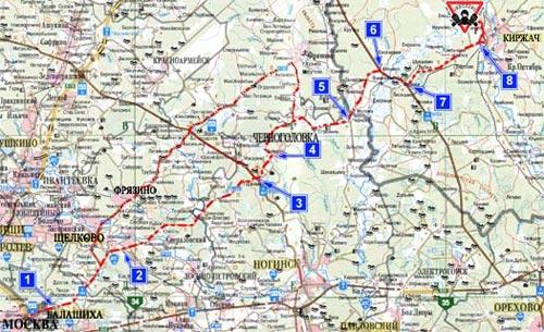 Карта проезда отМосквы до